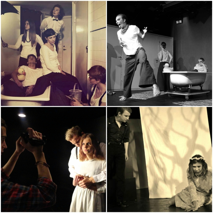 Top row: Scabs, directed by Sara Olofsson (2013). Bottom row: Blood Wedding, directed by Amanda Jimbergsson and Emma Lidskog (2012)